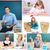 School time collage close-up — Stock Photo