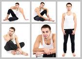 Snapshot of model. Handsome man — Stock Photo