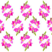 Abstract freesia flower background isolated on white — Stock Photo