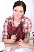 Beautiful girl manicurist — Stock Photo