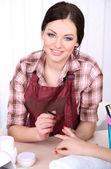 Beautiful girl manicurist — Stock Photo