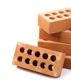 New bricks, isolated on white  — Stock Photo