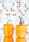 Cosmetics and bath accessories — Stock Photo