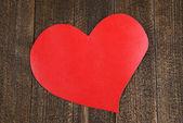 καρδιές χαρτί σε ξύλινα φόντο — Φωτογραφία Αρχείου