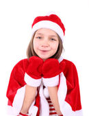 Girl in Christmas costume — Stock Photo