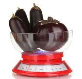 Fresh eggplants — Stock Photo