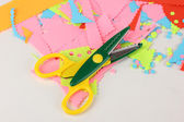 Colorful zigzag scissors — Stock Photo