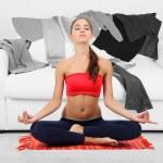 Girl doing yoga — Stock Photo #46318063