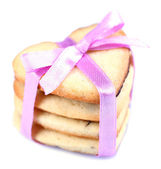 Lavender cookies isolated on white — Stock Photo