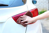 Outdoor car wash  — Stock Photo