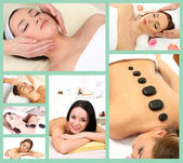 Spa therapy collage — Stock Photo