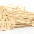 Decorative straw for hand made and heart of straw, isolated on white — Stock Photo #46441397