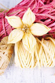 Decorative straw for hand made and flower of straw — Stock Photo