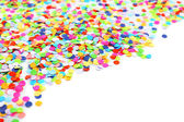 Confetti isolated on white — Stock Photo