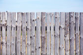 Wooden fence on sky background — Foto Stock