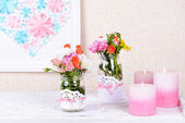 Bouquet of bright flowers — Stock Photo