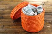 Förpackningar med dollar — Stockfoto