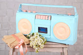 Colorful retro radio — Stock Photo