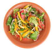 Beef salad in bowl — Stock Photo