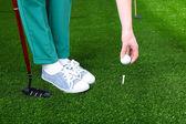 Joueur de golf féminin — Photo
