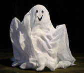 Halloween ghost, on dark background — Stock Photo