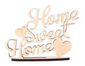 Hecho a mano de madera decorativo palabras hogar, dulce hogar, aislado en blanco — Foto de Stock