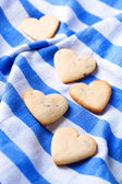 Lavender cookies on color napkin background — Stockfoto