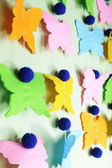Handmade garland on color background — Stock Photo