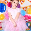 Pretty little girl celebrate her birthday — Stock Photo #46530125