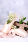 Beautiful lilies of the valley in pointes  — Stock Photo