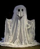 Halloween ghost, on dark background — Stock Photo