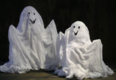 Halloween ghosts,on dark background — Stockfoto