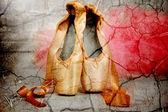 Zapatos de ballet de pointe — Foto de Stock