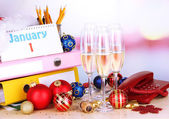 New Year party at office close-up — Stock Photo