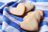 Lavender cookies on color napkin background — Stock fotografie
