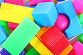 Colorful plastic toys close up — Stock Photo