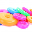 Colorful plastic rings — Stock Photo #46935247