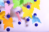 Handmade garland on light background — Stock Photo