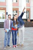 Students near university  — Stock Photo