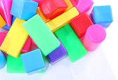 Plastic colorful blocs — Stock Photo