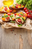 Bruschetta with tomatoes — Foto de Stock