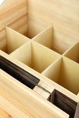 Drewniane pudełko — Zdjęcie stockowe