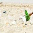 Garbage on the beach — Stock Photo #47172845