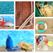Sea theme collage — Stock Photo #47210419