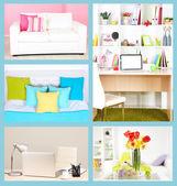 Collage of interior design — Stock Photo