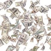 Uçan dolarlık banknotlar — Stok fotoğraf