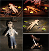 Voodoo collage — Stock Photo