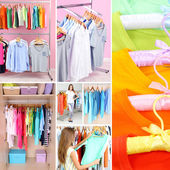 Collage of clothing closeup — Stockfoto