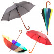 Collage of umbrellas isolated on white — Stock Photo #47337837