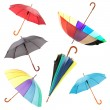 Collage of umbrellas isolated on white — Stock Photo #47337901